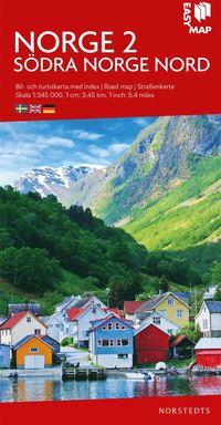 bokomslag Södra Norge nord EasyMap : Skala 1:345.000