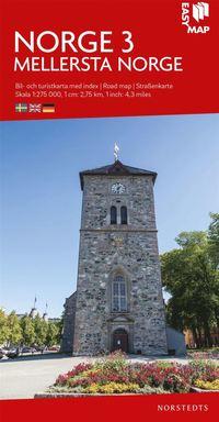 bokomslag Mellersta Norge EasyMap : Skala 1:275.000