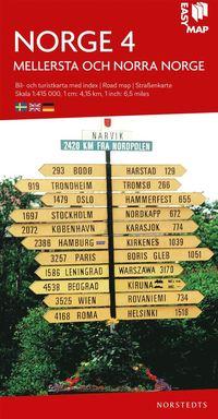 bokomslag Mellersta och norra Norge EasyMap : Skala 1:415.000