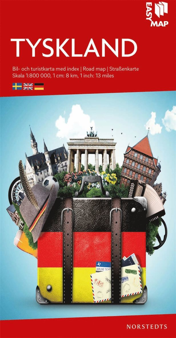 Tyskland EasyMap : Skala 1:800.000 1