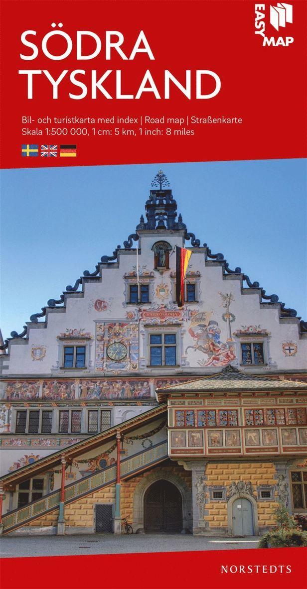 Södra Tyskland EasyMap : Skala 1:500.000 1