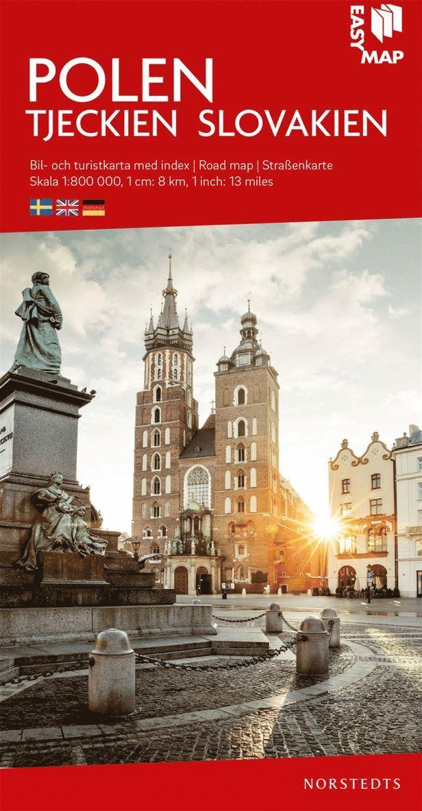 Polen Tjeckien Slovakien EasyMap : Skala 1:800.000 1