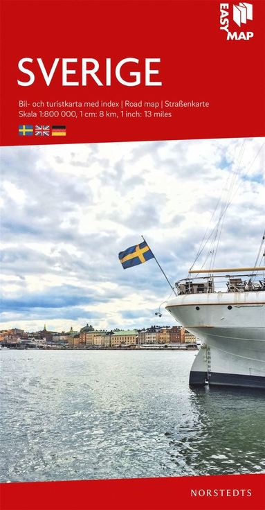 bokomslag Sverige EasyMap : Skala 1:800.000