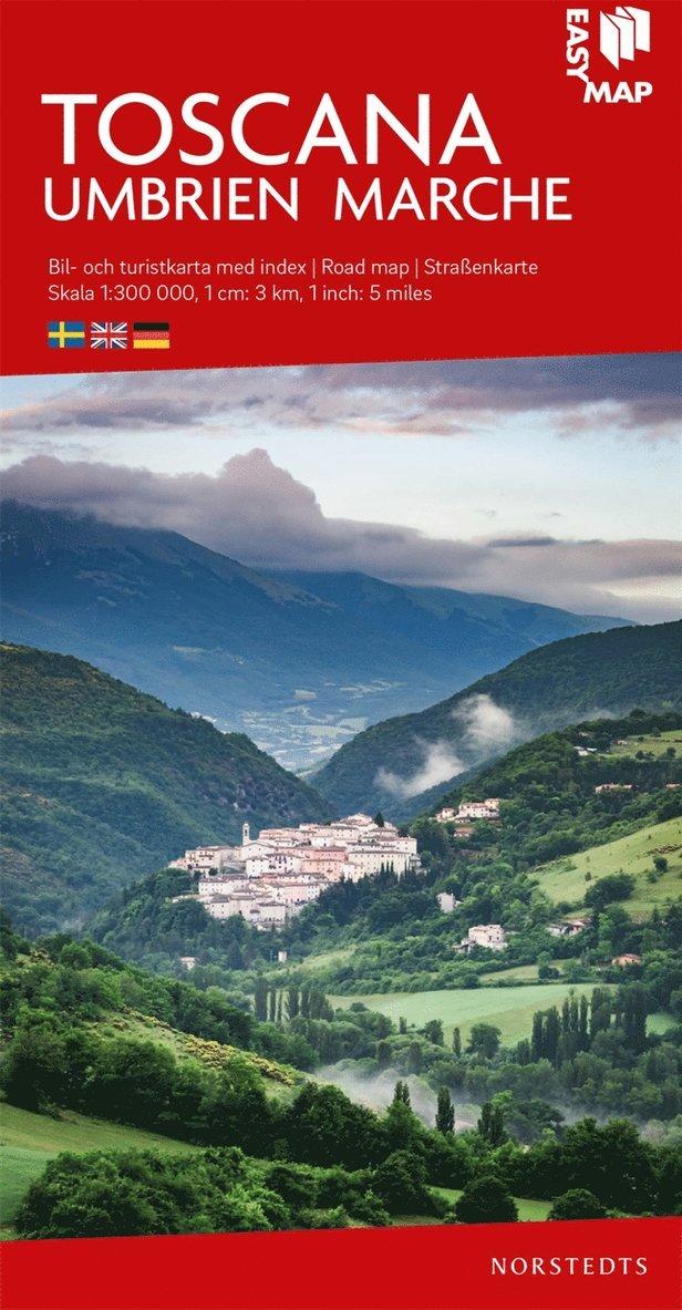 Toscana EasyMap : Skala 1:300.000 1