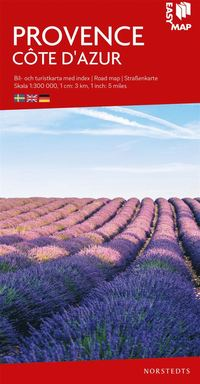 bokomslag Provence Côte d'Azur EasyMap : Skala 1:300.000