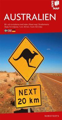 bokomslag Australien EasyMap : Skala 1:4milj