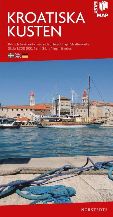 bokomslag Kroatiska Kusten EasyMap : Skala 1:300.000