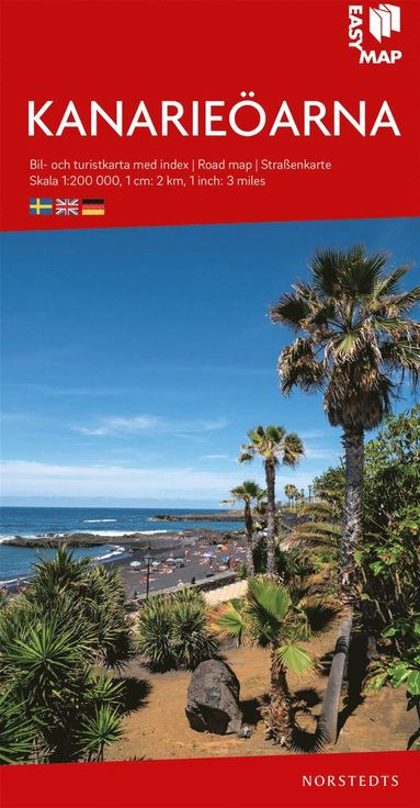 bokomslag Kanarieöarna EasyMap : Skala 1:200.000