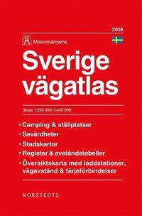bokomslag Sverige Vägatlas 2018 Motormännen : Skala 1:250.000-1:400.000