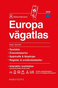 bokomslag Europa vägatlas 2018 Motormännen : Skala 1:800.000