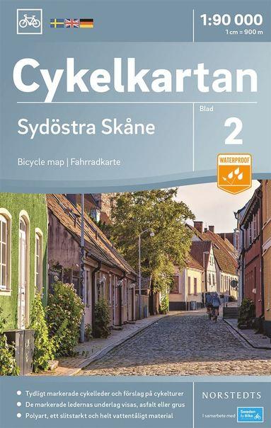 bokomslag Cykelkartan Blad 2 Sydöstra Skåne : Skala 1:90.000