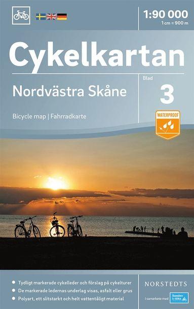 bokomslag Cykelkartan Blad 3 Nordvästra Skåne : Skala 1:90.000