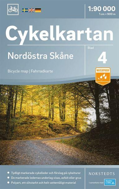 bokomslag Cykelkartan Blad 4 Nordöstra Skåne : Skala 1:90.000