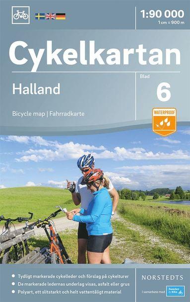 bokomslag Cykelkartan Blad 6 Halland : Skala 1:90.000