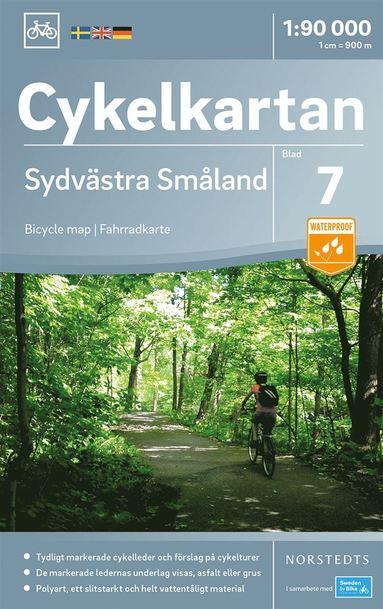 bokomslag Cykelkartan Blad 7 Sydvästra Småland : Skala 1:90.000