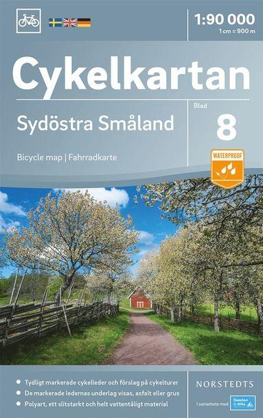 bokomslag Cykelkartan Blad 8 Sydöstra Småland : Skala 1:90.000