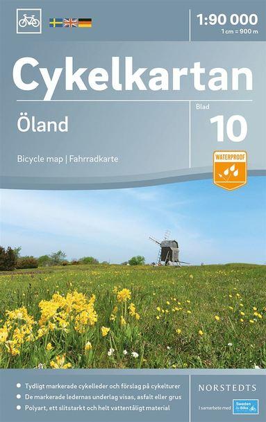 bokomslag Cykelkartan Blad 10 Öland : Skala 1:90.000