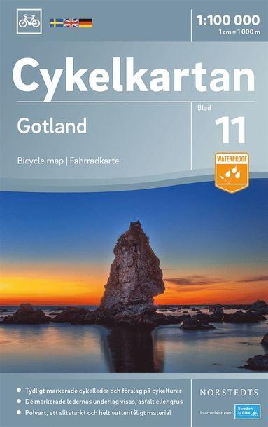 bokomslag Cykelkartan Blad 11 Gotland : Skala 1:100.000