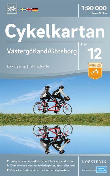 bokomslag Cykelkartan Blad 12 Västergötland/Göteborg : Skala 1:90.000