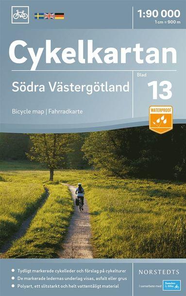 bokomslag Cykelkartan Blad 13 Södra Västergötland : Skala 1:90.000