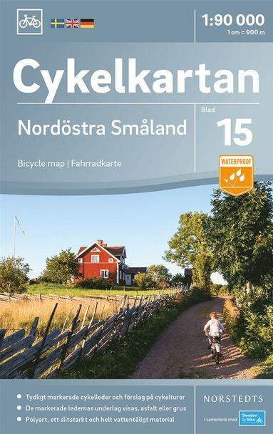bokomslag Cykelkartan Blad 15 Nordöstra Småland : Skala 1:90.000