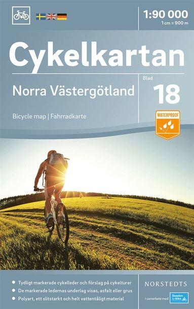 bokomslag Cykelkartan Blad 18 Norra Västergötland : Skala 1:90.000