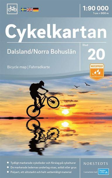 bokomslag Cykelkartan Blad 20 Dalsland/Norra Bohuslän : Skala 1:90.000