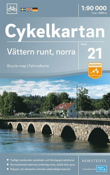 bokomslag Cykelkartan Blad 21 Vättern runt, norra delen : Skala 1:90.000