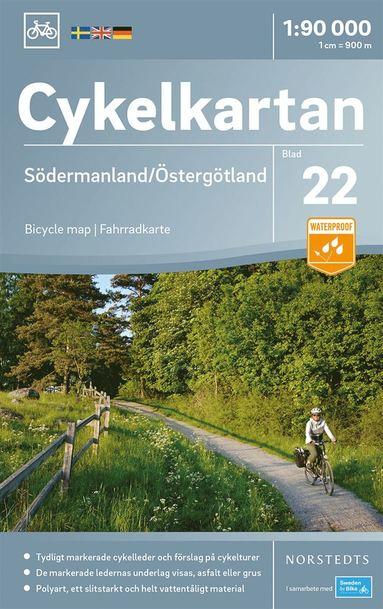 bokomslag Cykelkartan Blad 22 Södermanland/Östergötland : Skala 1:90.000