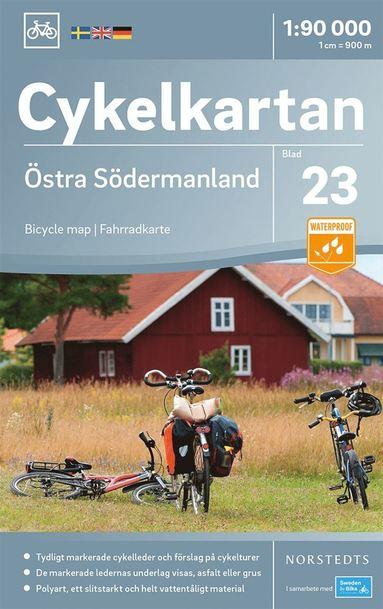 bokomslag Cykelkartan Blad 23 Östra Södermanland : Skala 1:90.000