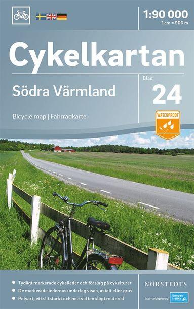 bokomslag Cykelkartan Blad 24 Södra Värmland : Skala 1:90.000