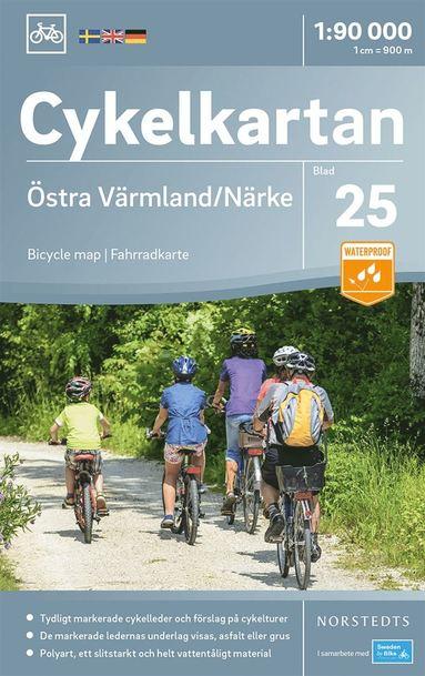 bokomslag Cykelkartan Blad 25 Östra Värmland/Närke : Skala 1:90.000