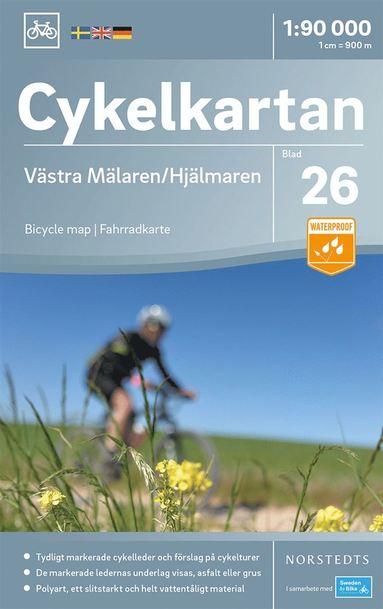 bokomslag Cykelkartan Blad 26 Västra Mälaren/Hjälmaren : Skala 1:90.000