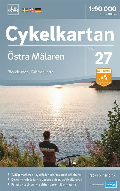 bokomslag Cykelkartan Blad 27 Östra Mälaren : Skala 1:90.000