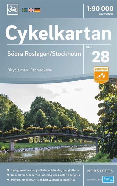 bokomslag Cykelkartan Blad 28 Södra Roslagen/Stockholm : Skala 1:90.000