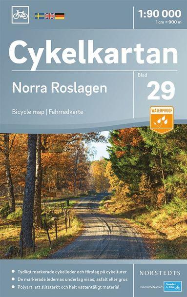 bokomslag Cykelkartan Blad 29 Norra Roslagen : Skala 1:90.000