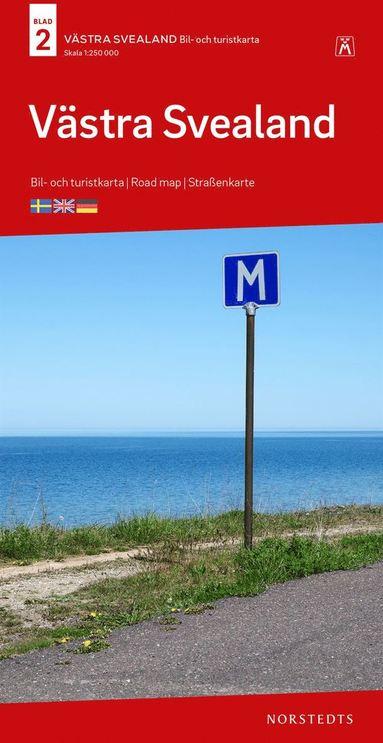 bokomslag Västra Svealand Bil & Turistkarta Nr 2 : Skala 1:250.000