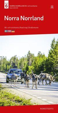 bokomslag Norra Norrland Bil & Turistkarta Nr 6 : Skala 1:400.000