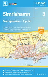 bokomslag 3 Simrishamn Sverigeserien Topo50 : Skala 1:50 000