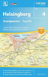 bokomslag 4 Helsingborg Sverigeserien Topo50 : Skala 1:50 000