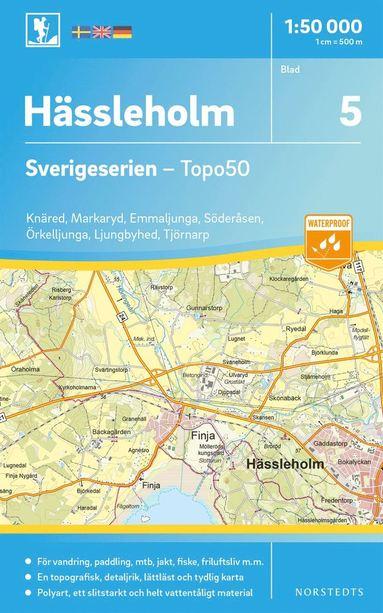 bokomslag 5 Hässleholm Sverigeserien Topo50 : Skala 1:50 000