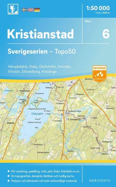 bokomslag 6 Kristianstad Sverigeserien Topo50 : Skala 1:50 000