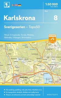 bokomslag 8 Karlskrona Sverigeserien Topo50 : Skala 1:50 000