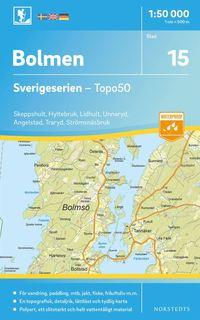 bokomslag 15 Bolmen Sverigeserien Topo50 : Skala 1:50 000