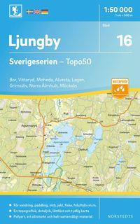 bokomslag 16 Ljungby Sverigeserien Topo50 : Skala 1:50 000