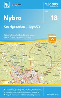 bokomslag 18 Nybro Sverigeserien Topo50 : Skala 1:50 000