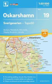 bokomslag 19 Oskarshamn Sverigeserien Topo50 : Skala 1:50 000