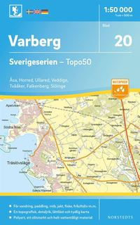 bokomslag 20 Varberg Sverigeserien Topo50 : Skala 1:50 000