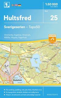bokomslag 25 Hultsfred Sverigeserien Topo50 : Skala 1:50 000