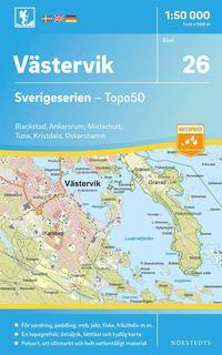 bokomslag 26 Västervik Sverigeserien Topo50 : Skala 1:50 000